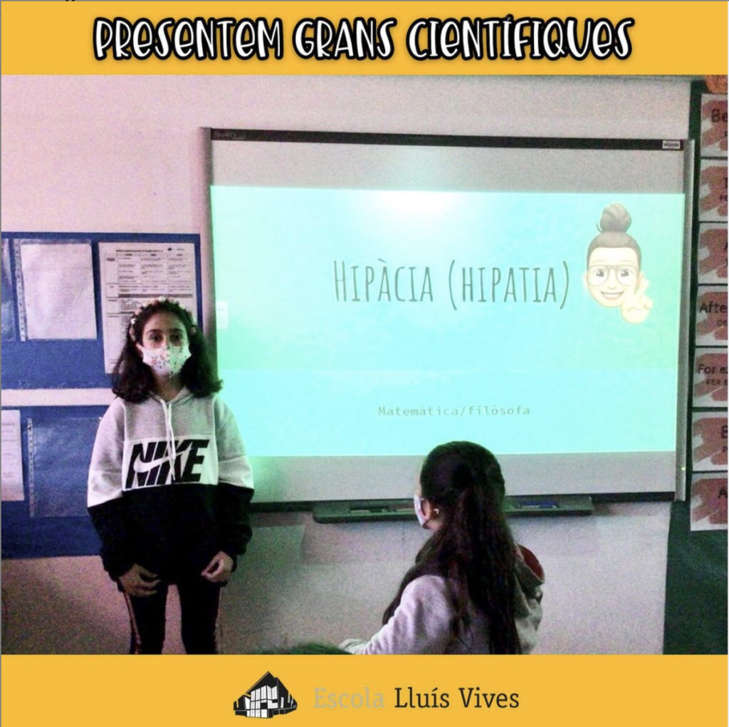 6th graders make presentations about women scientists