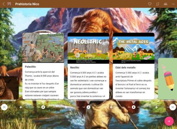 Timeline sobre la prehistòria